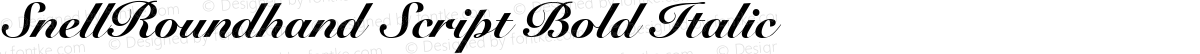 SnellRoundhand Script Bold Italic