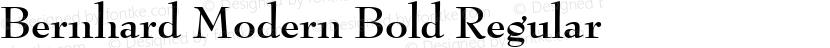 Bernhard Modern Bold Regular Preview Image