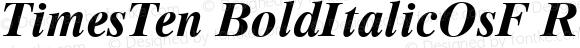 TimesTen BoldItalicOsF Regular V.1.0