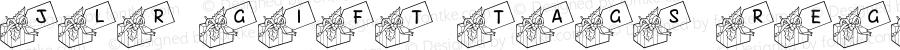 JLR Gift Tags Regular Macromedia Fontographer 4.1 12/23/00