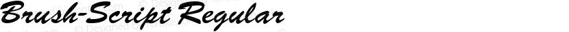 Brush-Script Regular Preview Image