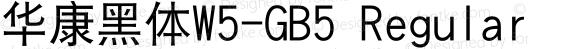 華康黑體W5-GB5