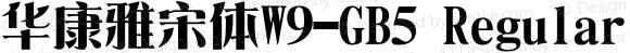華康雅宋體W9-GB5