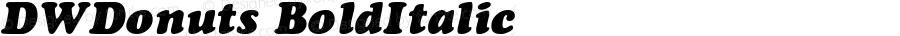 DWDonuts BoldItalic 10/24/2002
