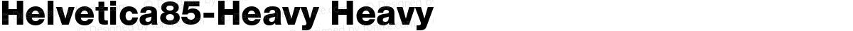 Helvetica85-Heavy Heavy