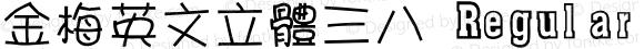 金梅英文立體三八 Regular 26 SEP., 2002, Version 3.0