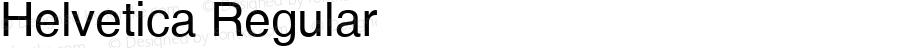 Helvetica Regular Version 1.3 (Hewlett-Packard)