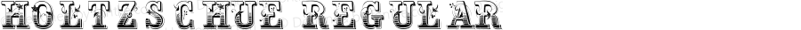 Holtzschue Regular Altsys Fontographer 3.5  7/1/92