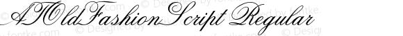 ATOldFashionScript Regular Converter: Windows Type 1 Installer V1.0d.