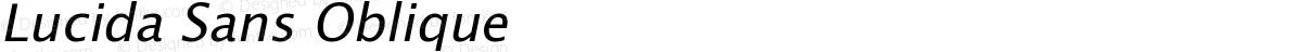 Lucida Sans Oblique