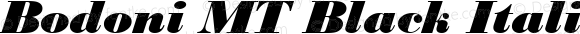 Bodoni MT Black Italic Version 2.10