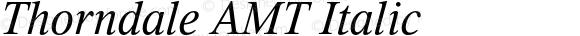 Thorndale AMT Italic OTF 1.005;PS 001.000;Core 1.0.32;makeotf.lib1.4.3831