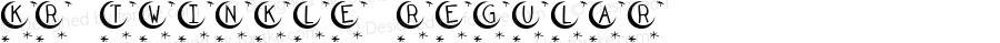 KR Twinkle Regular Macromedia Fontographer 4.1 12/26/02