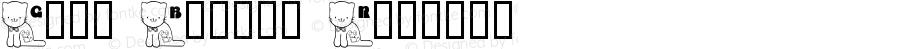 Gato Bocado Regular Macromedia Fontographer 4.1 1/20/03