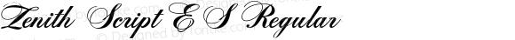 Zenith Script ES Regular 5.7