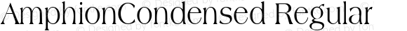 AmphionCondensed Regular also Copyright (c)1996 WIZ Technology, Inc., Licensed from the WSI-Fonts/Professional Collection