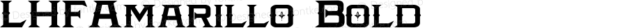 LHFAmarillo Bold Macromedia Fontographer 4.1 25/08/2002