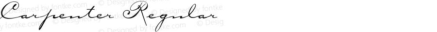 Carpenter Regular Altsys Fontographer 4.1 4/24/95