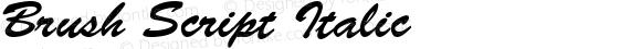 Brush Script Italic