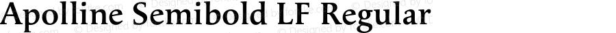 Apolline Semibold LF Regular OTF 1.000;PS 001.000;Core 1.0.29
