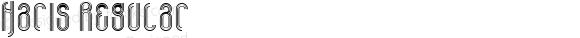 Haris Regular Macromedia Fontographer 4.1J 03.4.10