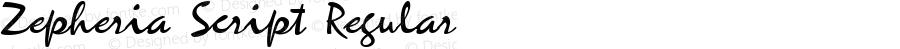 Zepheria Script Regular Macromedia Fontographer 4.1 23.03.02