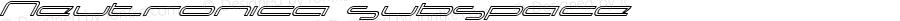 Neutronica subspace Altsys Fontographer 4.0 98-03-03