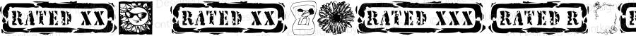 KR Katlings Six Regular Macromedia Fontographer 4.1 6/11/03