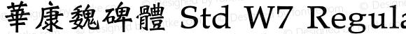 華康魏碑體 Std W7 Regular Version 1.03