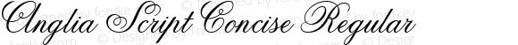 Anglia Script Concise Regular Macromedia Fontographer 4.1 22.11.2002