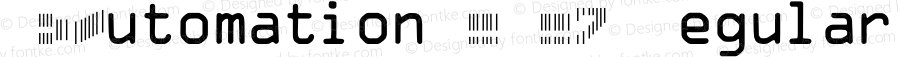 IDAutomationSCMC7 Regular OTF 3.700;PS 003.007;Core 1.0.34