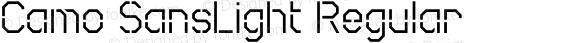 Camo SansLight Regular Macromedia Fontographer 4.1.5 8/4/03