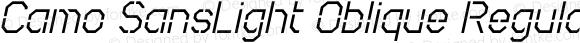 Camo SansLight Oblique Regular Macromedia Fontographer 4.1.5 8/4/03
