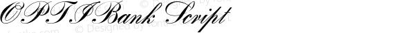 OPTIBank Script Macromedia Fontographer 4.1 21/07/01