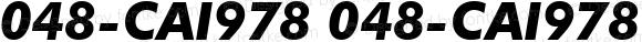 048-CAI978 048-CAI978 Version 1.00 November 26, 1998, initial release