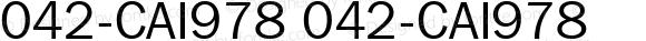 042-CAI978 042-CAI978 Version 1.00 November 26, 1998, initial release