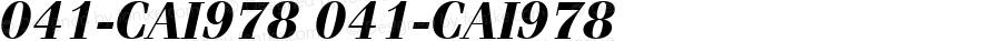 041-CAI978 041-CAI978 041-CAI978
