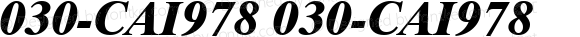 030-CAI978 030-CAI978 Version 1.00 December 7, 1998, initial release