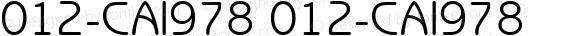 012-CAI978 012-CAI978 012-CAI978