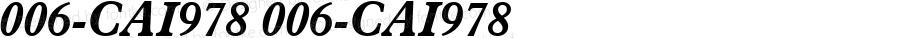 006-CAI978 006-CAI978 006-CAI978