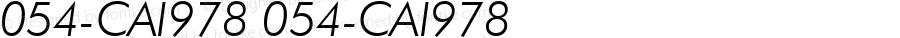 054-CAI978 054-CAI978 054-CAI978