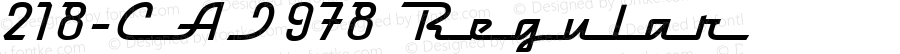 218-CAI978 Regular Version 1.00 January 1, 1904, initial release