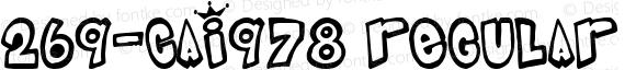 269-CAI978 Regular Version 1.00 April 8, 1998, initial release
