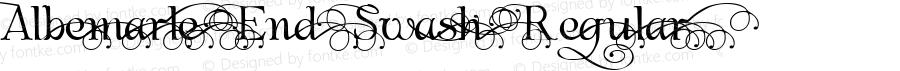 Albemarle End Swash Regular Macromedia Fontographer 4.1.4 10/17/01