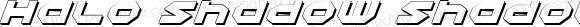 Halo Shadow Shadow Italic