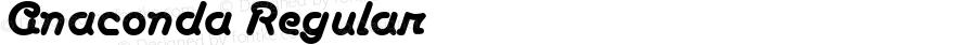 Anaconda Regular Macromedia Fontographer 4.1.5 2/4/02