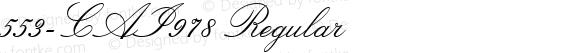 553-CAI978 Regular Version 1.00 December 21, 1998, initial release