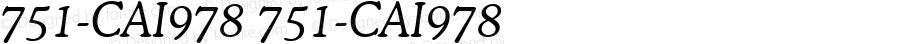 751-CAI978 751-CAI978 751-CAI978