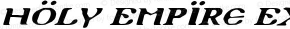 Holy Empire Expanded Italic Expanded Italic