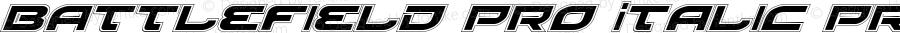 Battlefield Pro Italic Pro Italic 3